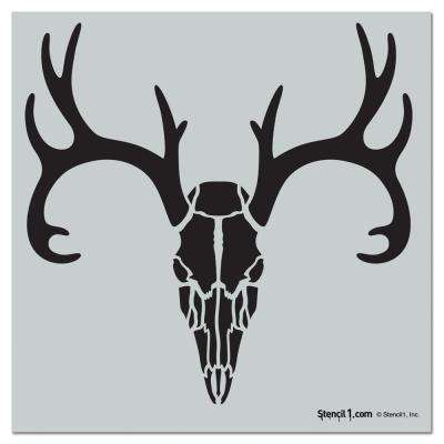 Deer Skull Repeat Pattern Stencil