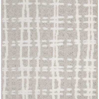 Carpet Sample - Busy Day - Color Modest White Pattern 8 in. x 8 in.
