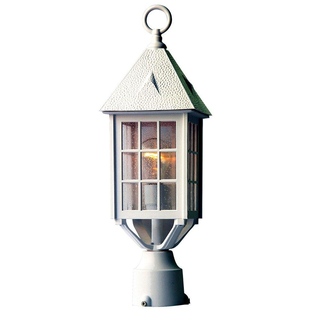 Acclaim Lighting Outer Banks 1-Light Textured White Outdoor Post-Mount Light Fixture