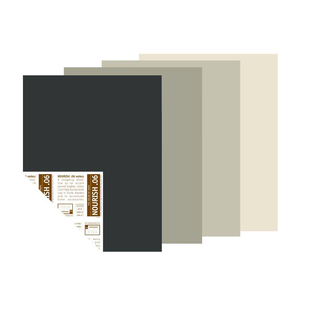 YOLO Colorhouse The Natural Neutral Palette 12 in. x 16 in. Pre-Painted Big Chip Sample (4-Pack)-DISCONTINUED