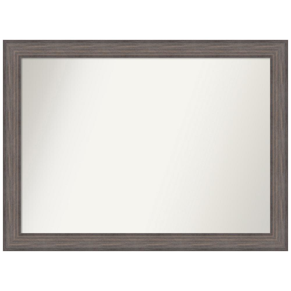 Amanti Art Choose Your Custom Size 46.25 in. x 34.25 in. Country Barnwood Decorative Wall Mirror was $569.95 now $284.97 (50.0% off)