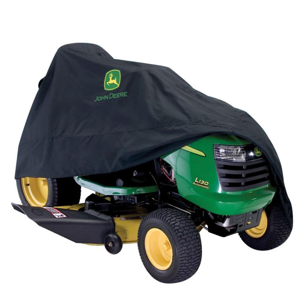 John Deere 46 in. x 44 in. Black Riding Mower Cover for 100 - X300 Series