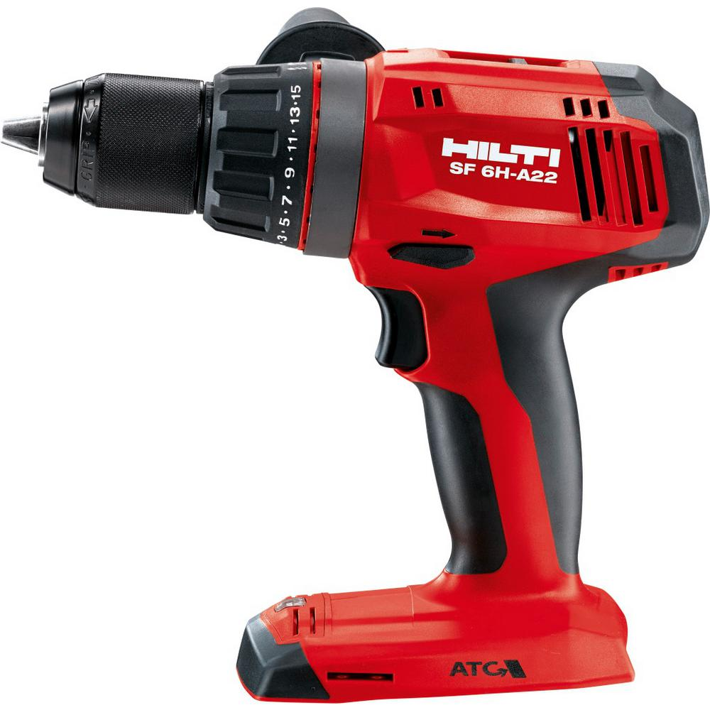 22-Volt Lithium-Ion Keyless Chuck Cordless Hammer Drill Driver/Impact