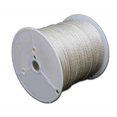#8 - 1/4 in. Solid Braid Polyester Rope 1000 ft. Reel