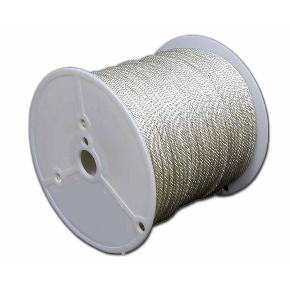 TW Evans 1/2 in. x 500 ft. Solid Braid Polyester Rope, Wh...