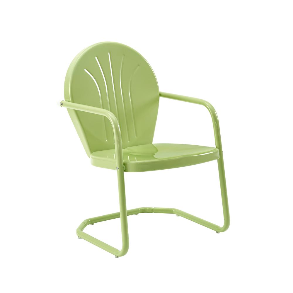 CROSLEY Griffith Key Lime Metal Outdoor Lounge Chair