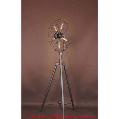 Pamela 68 in. Antique Copper Floor Lamp