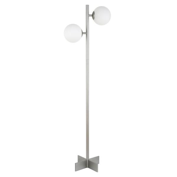 Twee 70-1/2 in. Nickel Floor Lamp