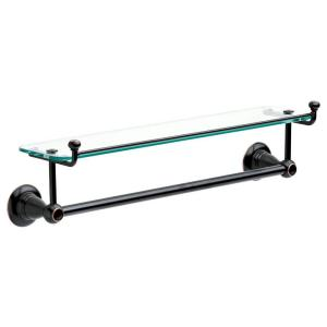 Delta Porter 18 inch Towel Bar with Glass Shelf in Oil Rubbed Bronze by Delta