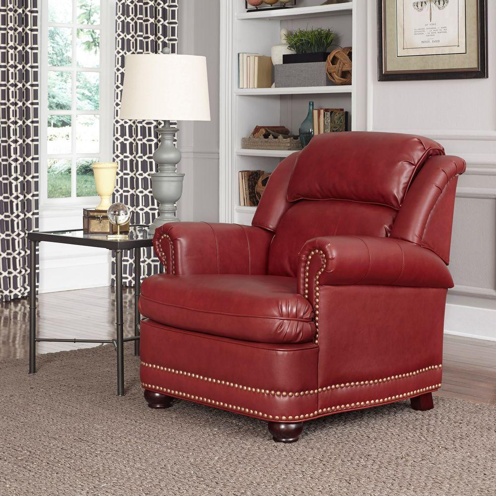 Miraculous Winston Red Faux Leather Arm Chair Inzonedesignstudio Interior Chair Design Inzonedesignstudiocom