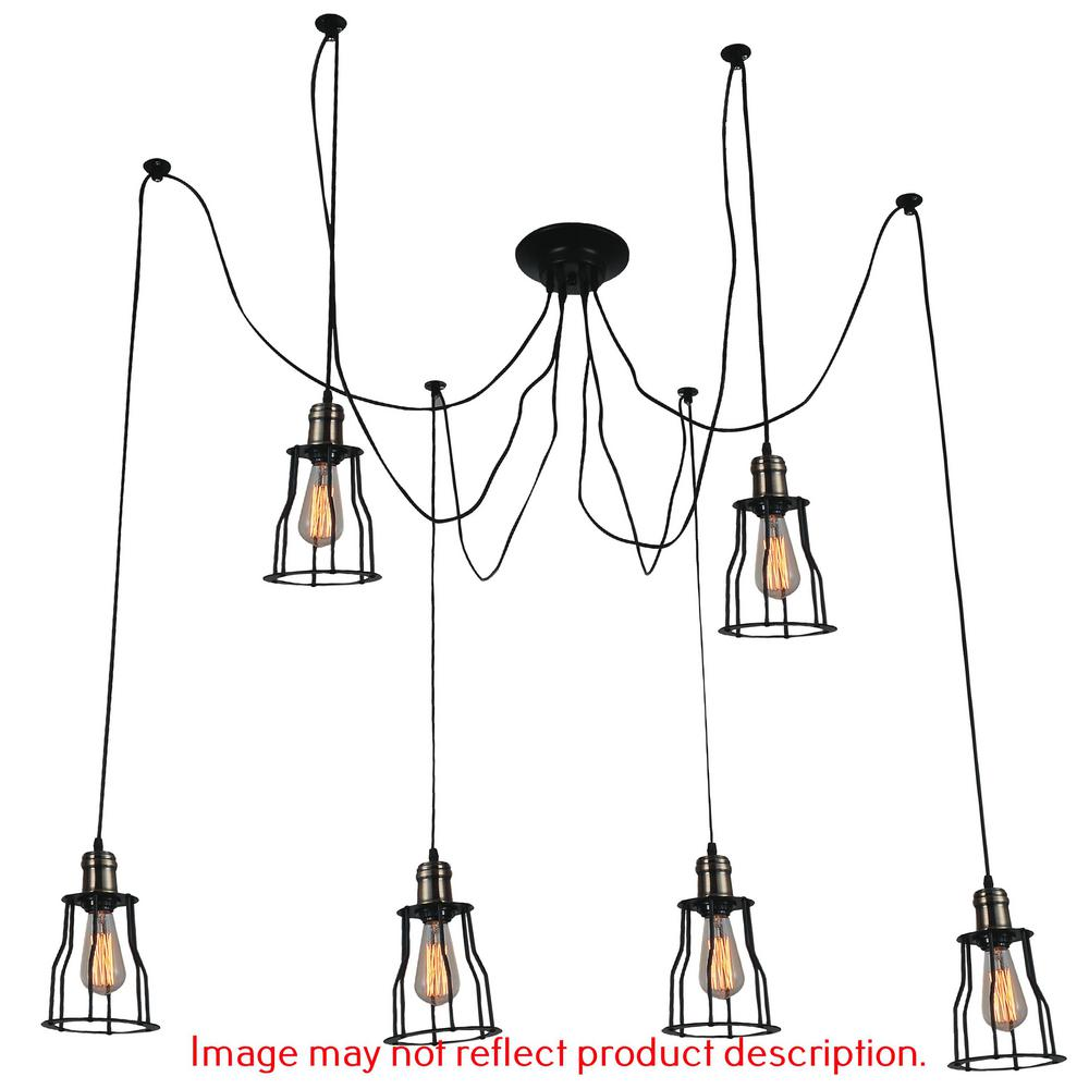 Cwi Lighting Graham 6 Light Chocolate Chandelier