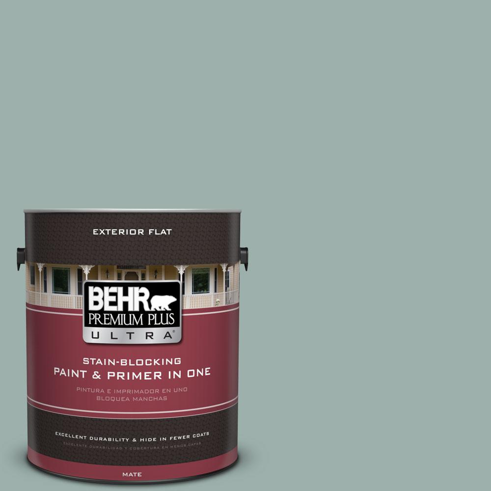 BEHR Premium Plus Ultra 1-gal. #490F-4 Gray Morning Flat Exterior Paint