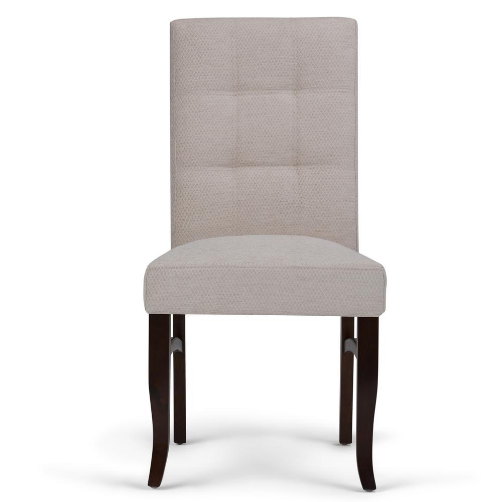 Simpli Home Ezra Platinum Deluxe Dining Chair (Set Of 2)
