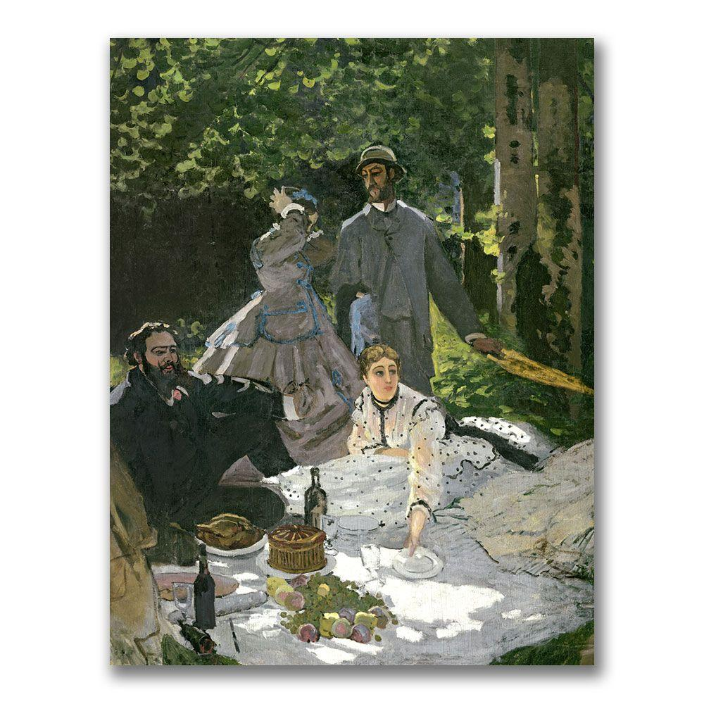 35 in. x 47 in. Dejeuner Sur l'Herbe Chailly Canvas Art