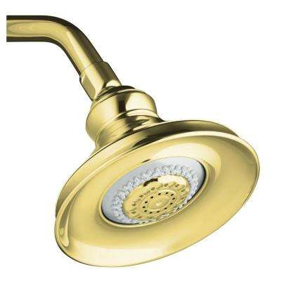 Revival 3-Spray Multifunction 5-15/16 in. Raincan Multifunction Showerhead in Vibrant Polished Brass