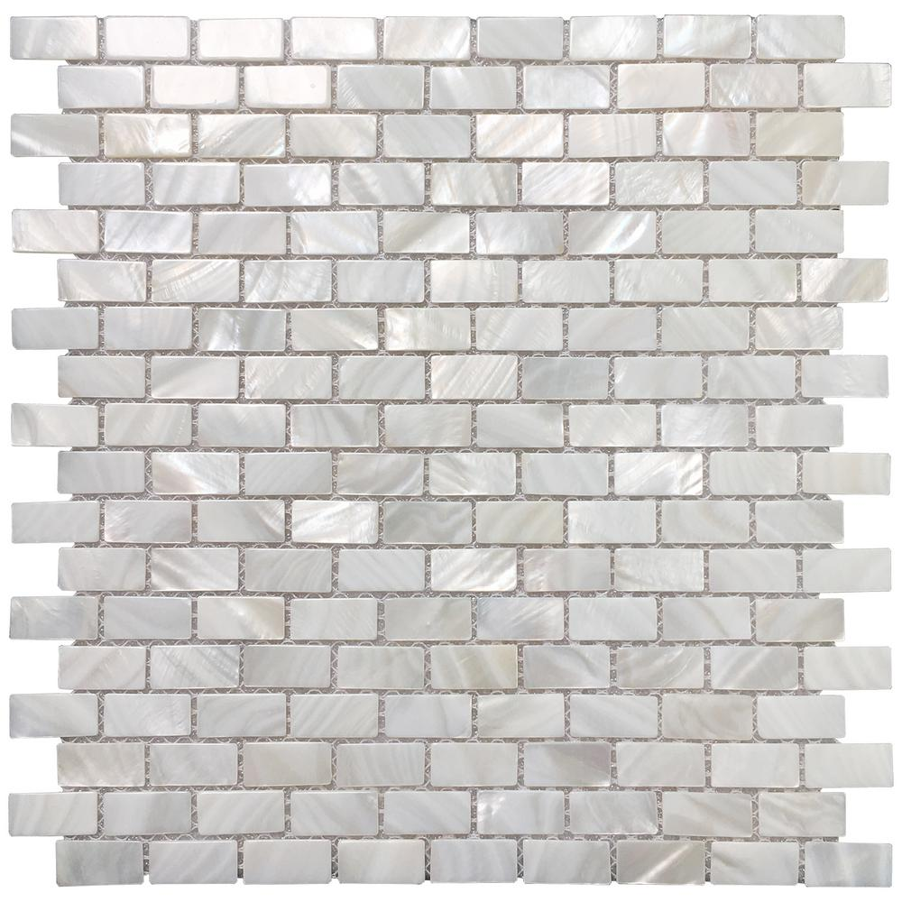 Incredible Art3D 12 In X 12 In Mother Of Pearl Backsplash Mosaic Subway Tile In Natural White 10 Pack Home Interior And Landscaping Pimpapssignezvosmurscom