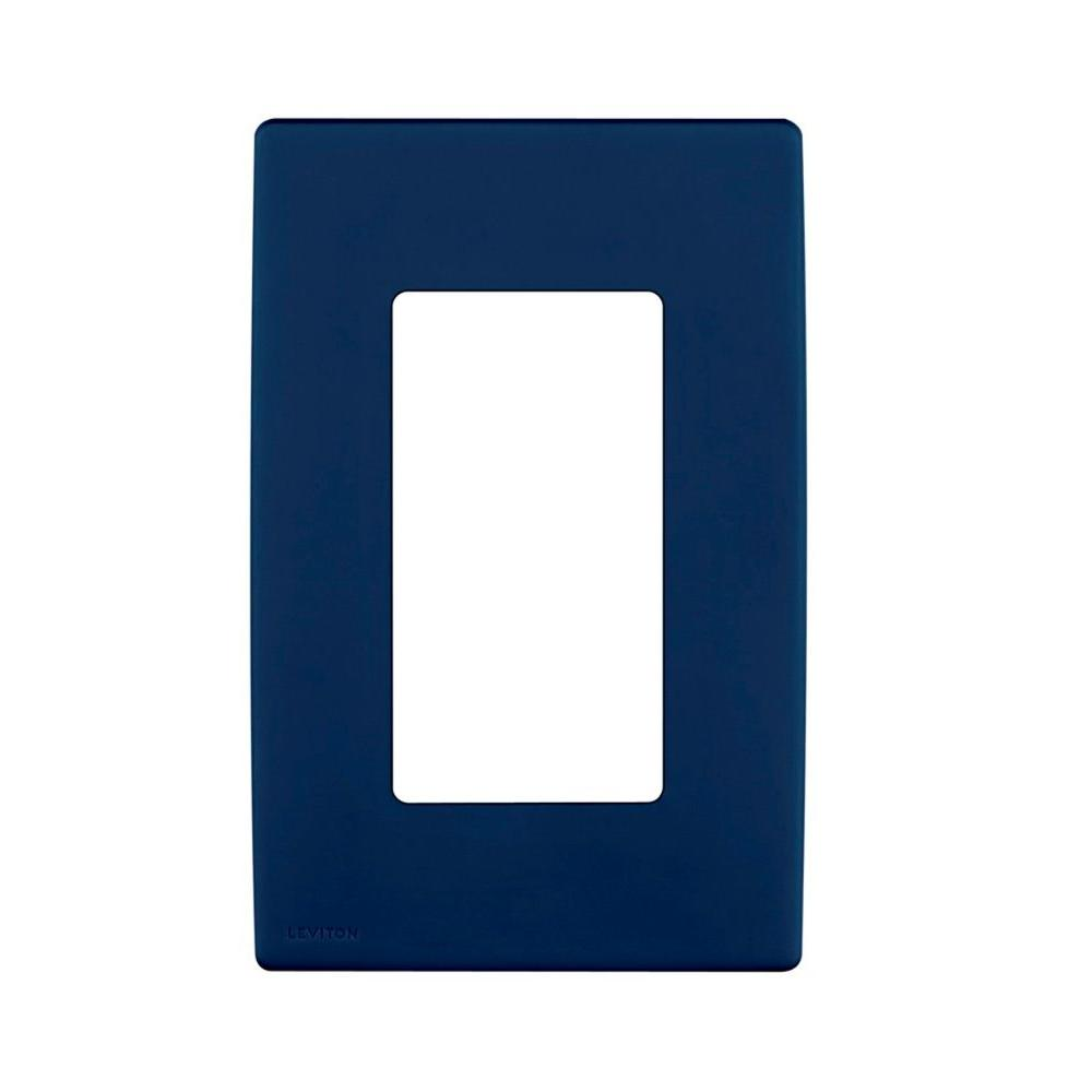 Leviton Renu 1 Gang Screwless Snap-on Wall Plate - Rich Navy-DISCONTINUED