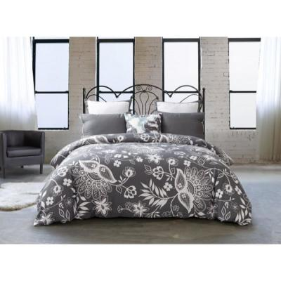 Kittery F/Q Duvet Set 300 Thread Count in Steel Grey