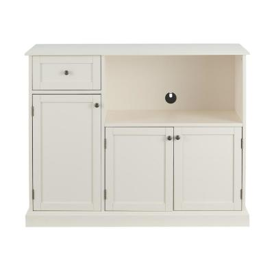 StyleWell Ivory Wood Transitional Kitchen Pantry (46 in. W x 36 in. H)