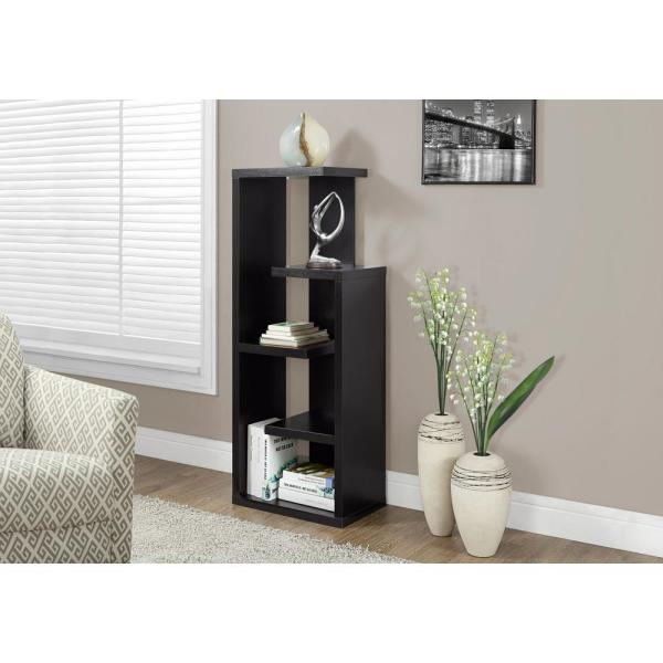 47.25 in. Cappuccino Faux Wood 5-shelf Standard Bookcase with Adjustable Shelves