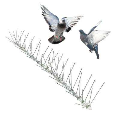 Original Stainless Steel Bird Spikes 100 ft. Pigeons Starlings Blackbirds Seagulls 6 in. Coverage