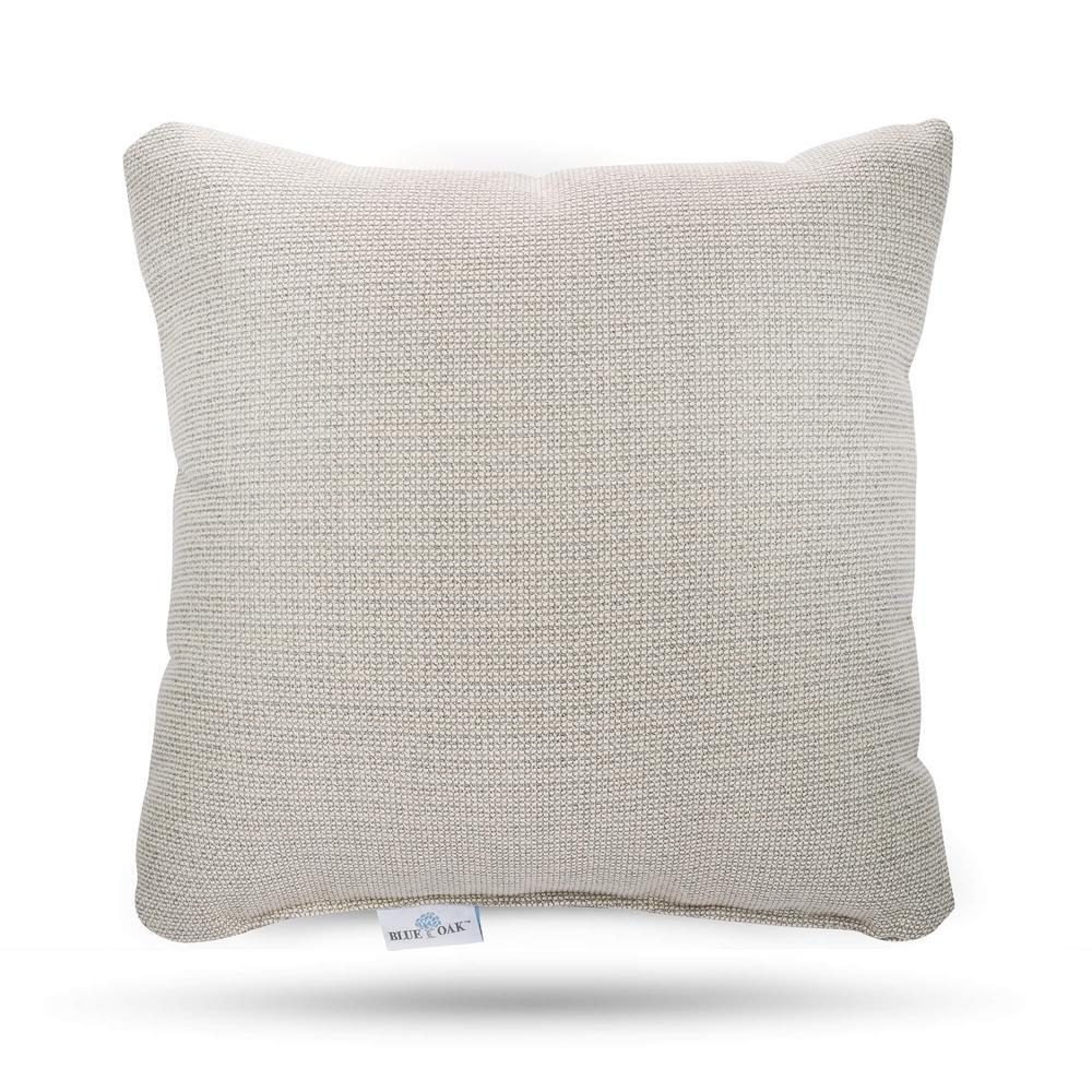 Smoke Blue Throw Pillow : BLUE OAK Sunbrella Hybrid Smoke Square Outdoor Throw Pillow (2-Pack)-HBOTP-HS - The Home Depot