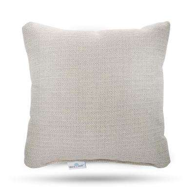 Sunbrella Hybrid Smoke Square Outdoor Throw Pillow (2-Pack)