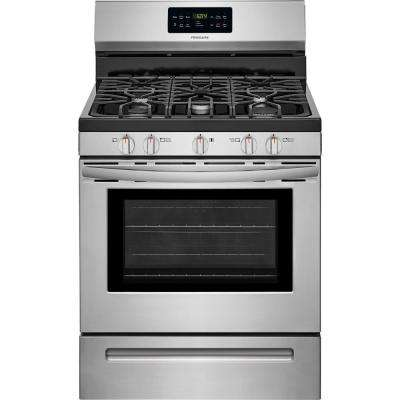5.0 cu. ft. Gas Range with Self-Cleaning QuickBake Convection Oven in Stainless Steel