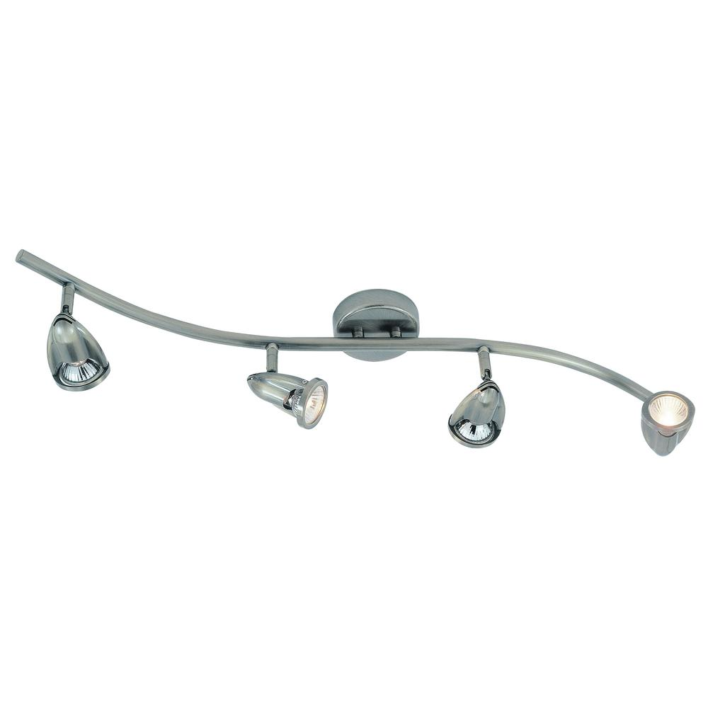 Stingray 2.7 ft. 4-Light Brushed Nickel Track Lighting Kit