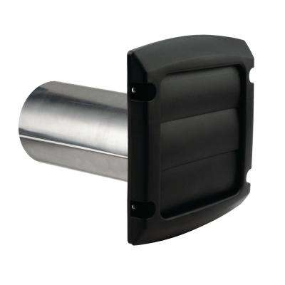 4 in x 1.25 ft Provent Louvered Exhaust Hood - Black