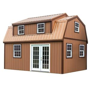 Lakewood 12 ft. x 18 ft. Wood Storage Shed Kit without Floor by