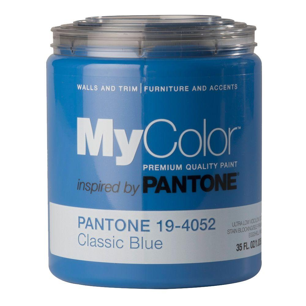 MyColor inspired by PANTONE 19-4052 Eggshell 35-oz. Classic Blue Self Priming Paint-DISCONTINUED