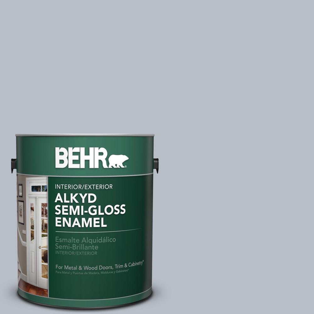 1 gal. #750E-3 Skyline Steel Semi-Gloss Enamel Alkyd Interior/Exterior Paint