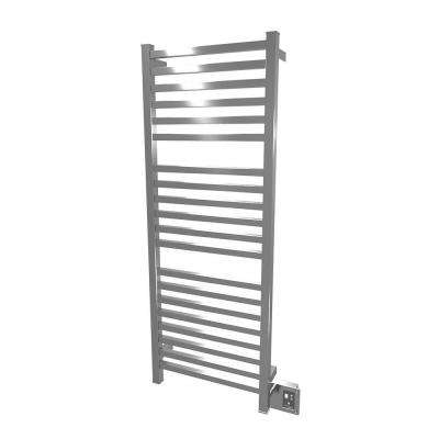 Quadro Q-2042 20.5 in. W x 54.5 in. H 20-Bar Electric Towel Warmer in Polished Stainless Steel
