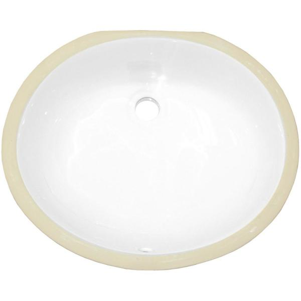 16 Gauge Sinks 18 25 In Undermount Bathroom Sink In White 16gs 20515 The Home Depot