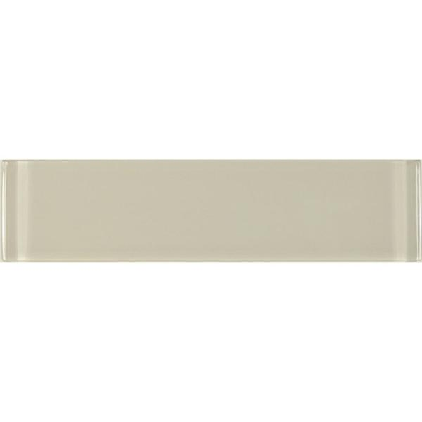 Abolos Subway 3 Quot X 12 Quot Rectangle Beige Taupe Glossy Glass