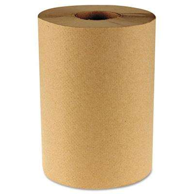 Hardwound Paper Towels, 8 in. x 350 ft., 1-Ply Natural, 12 Rolls/Carton
