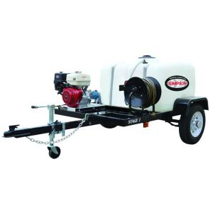 Simpson 3,200 psi 2.8 GPM Gas Pressure Washer Trailer System by Simpson