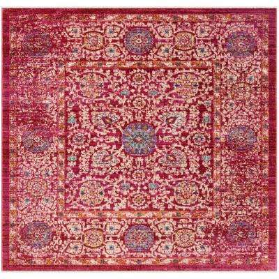 Safavieh Sutton Collection SUT402D Fuchsia Pink and Ivory Runner 3 x 12