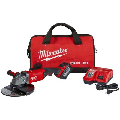 M18 FUEL 18-Volt Lithium-Ion Brushless Cordless 7/9 in. Grinder Kit W/ (1) 12.0Ah Battery, Bag & Rapid Charger