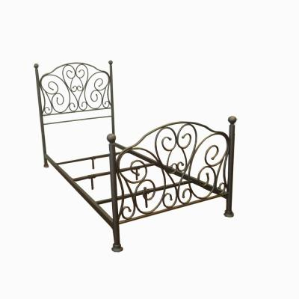 Oil Rubbed Bronze Scroll Metal Twin Standard Bed