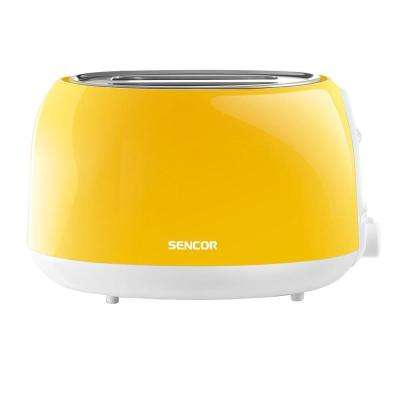 2-Slice Solid Yellow Toaster