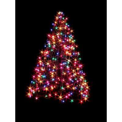 4 ft. Indoor/Outdoor Pre-Lit LED Artificial Christmas Tree with Green Frame and 240 Multi-Color Lights