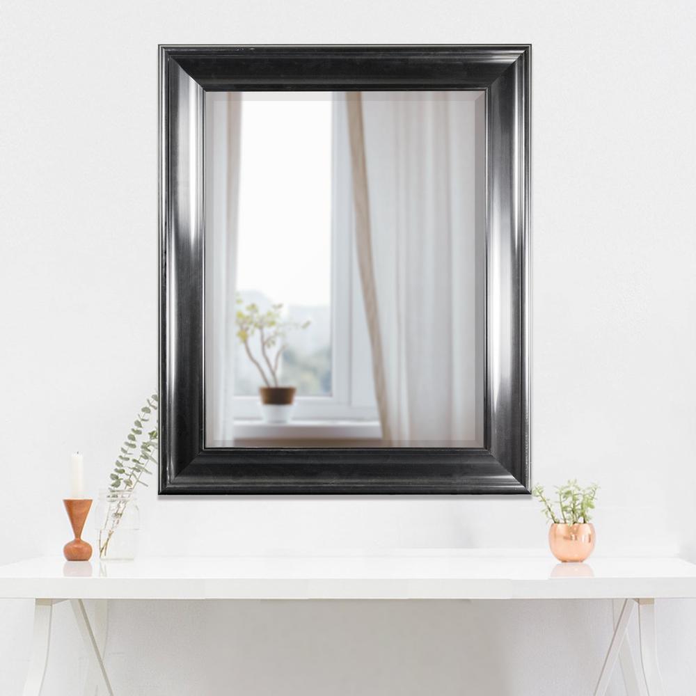 Elisa Rectangular Black Vanity Mirror