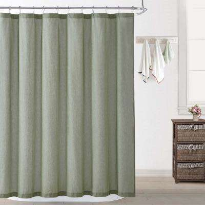 Chambray Coast Green Shower Curtain