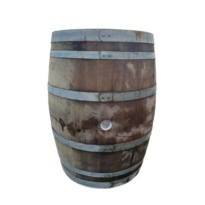 22 in. W x 37 in. H Brown Oak Wood Gloss Lacquer Whole Wine Barrel