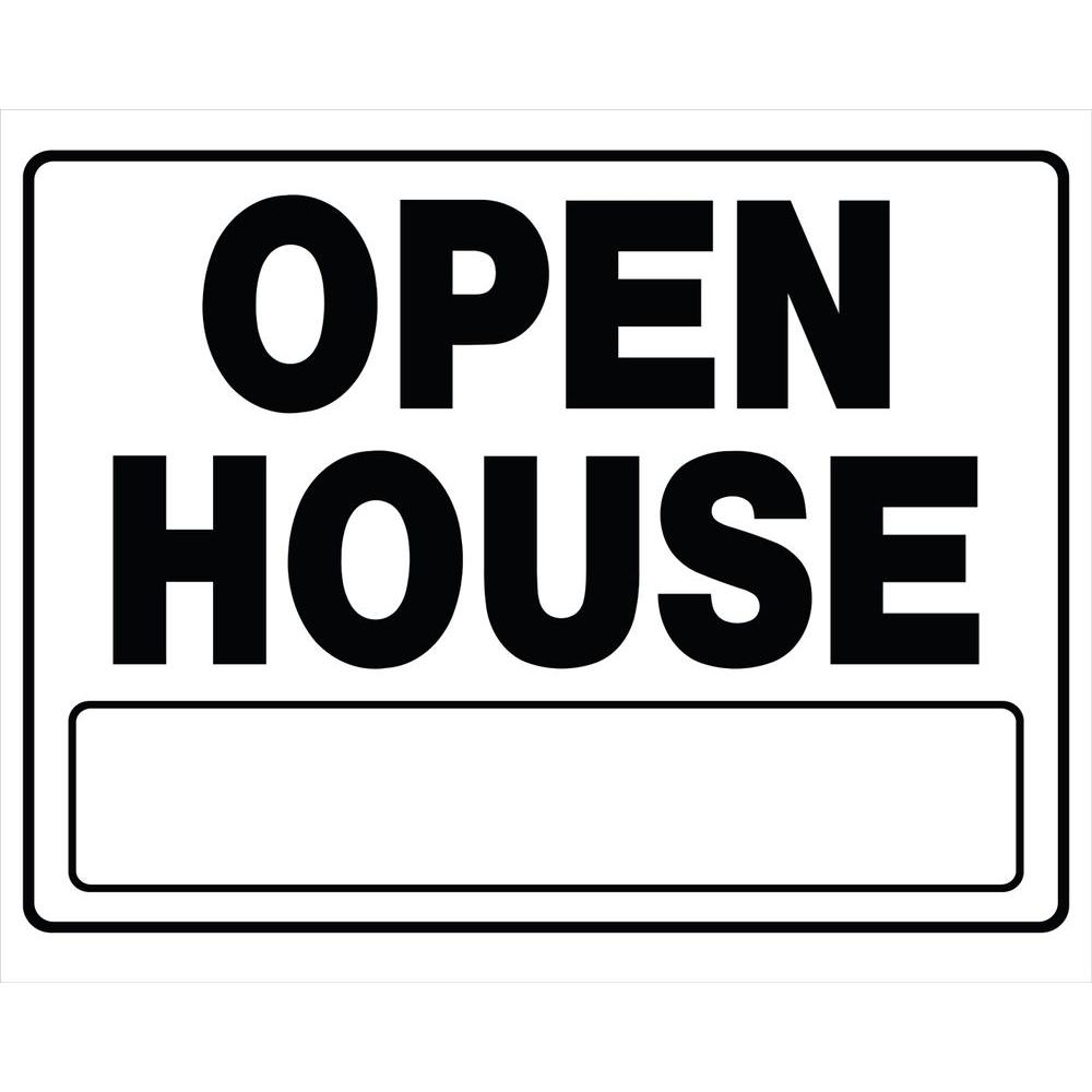 20 in. x 24 in. Corrugated Plastic Open House Sign-840062 - The Home ...
