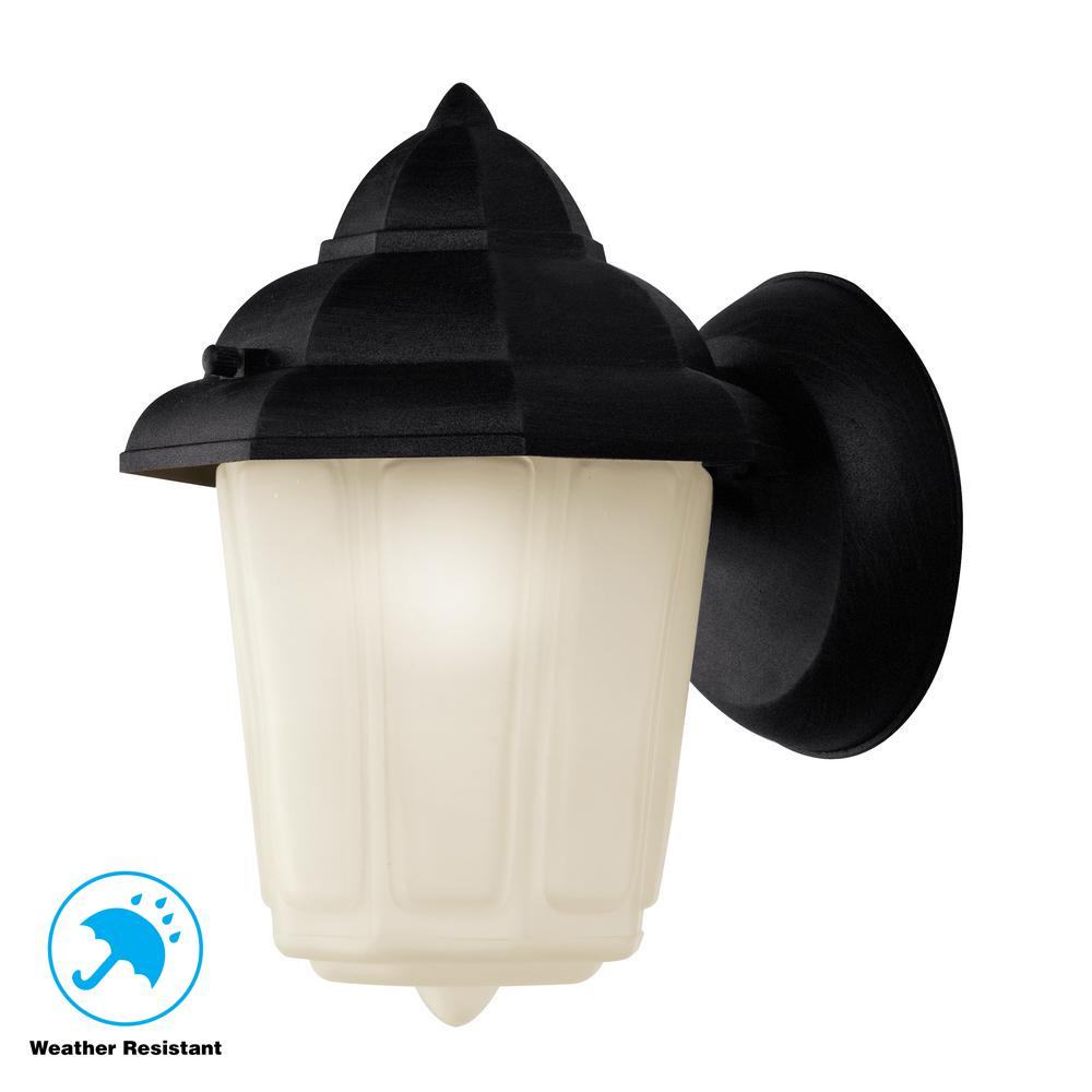 Dale 1-Light Black Outdoor Wall Mount Lantern