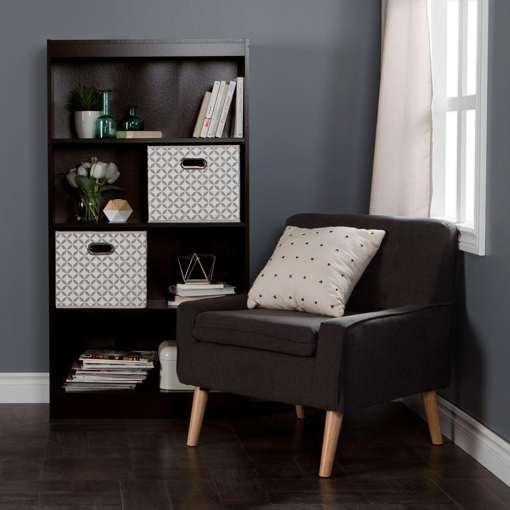 South Shore Axess Chocolate Open Bookcase