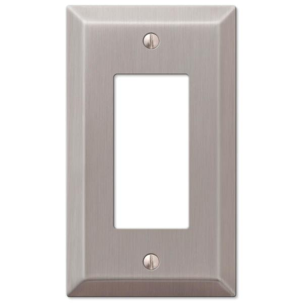 Reviews For Amerelle Metallic 1 Gang Rocker Steel Wall Plate Brushed Nickel 163rbn The Home Depot